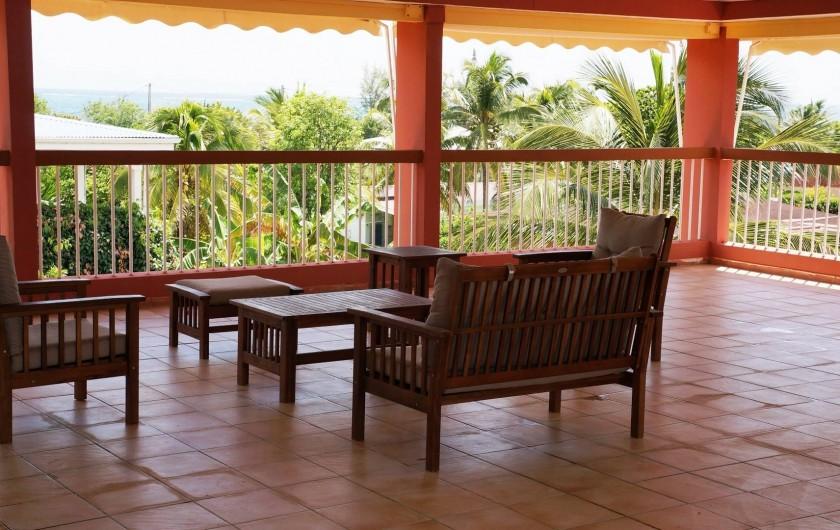 Location de vacances - Studio à Le Vauclin - Résidence Macabou - Terrasse panoramique en accès libre avec vue sur mer