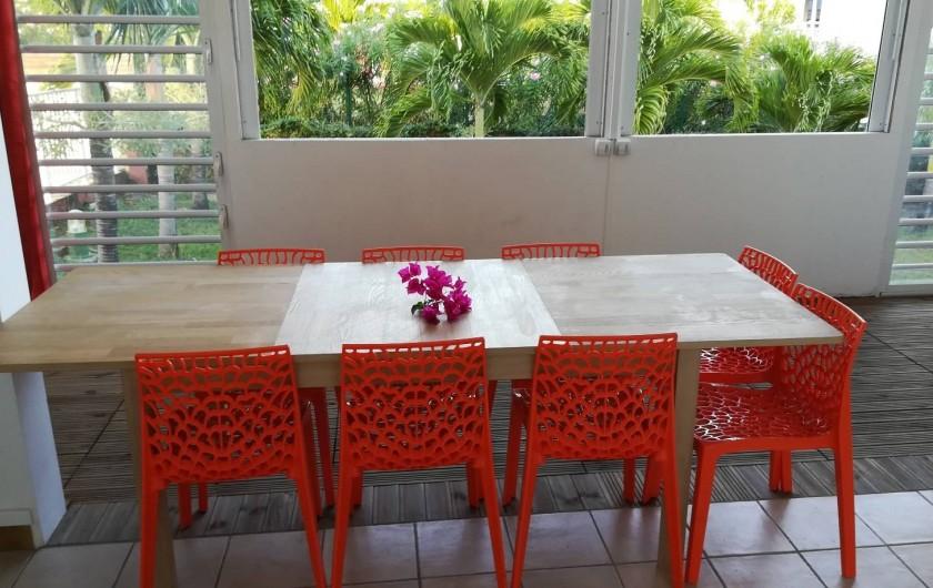 Location de vacances - Studio à Le Vauclin - Résidence Macabou - Séjour/Terrasse du T4 Ixora
