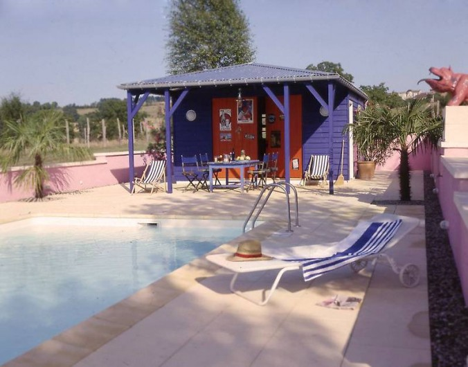 Location de vacances - Mas à Lusignac - piscine/poolhouse