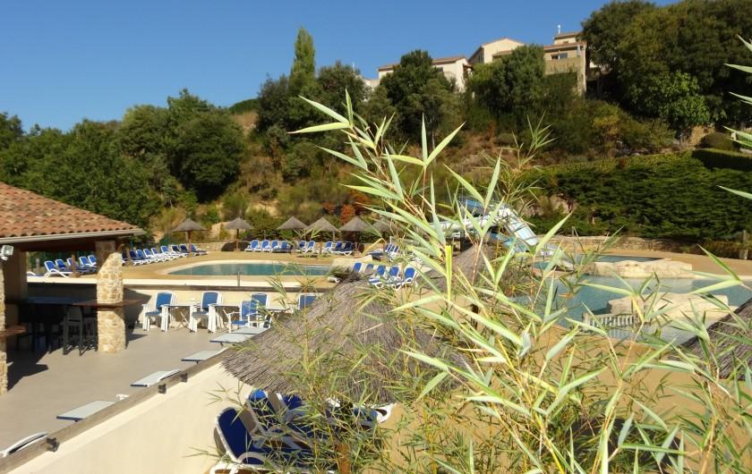 Location de vacances - Maison - Villa à Salavas - bar de la piscine