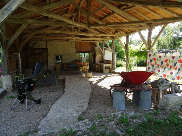 Location de vacances - Gîte à Puylaroque - LA TERRASSE 100M2 AVEC BBQ, SALON DE JARDIN
