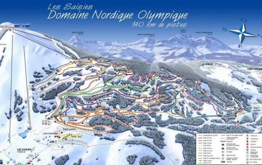 Location de vacances - Appartement à Crest-Voland - Plan des pistes ski de fond, site des Jeux Olympiques de 1992
