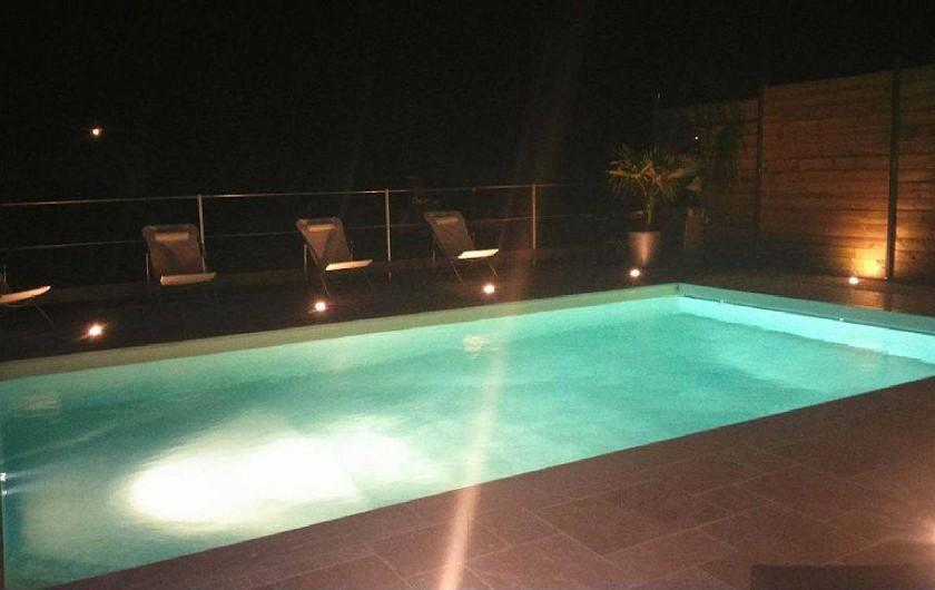 Location de vacances - Villa à Sainte-Maxime - piscine éclairée de nuit