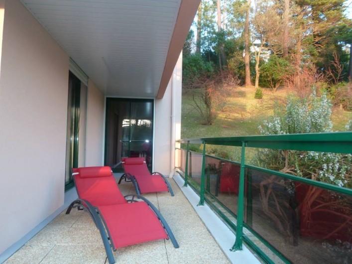 Location de vacances - Appartement à Biarritz - Espace solarium