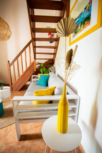 Location de vacances - Villa à Sainte-Anne - Chambre 1 du bas villa TOTOBOIS