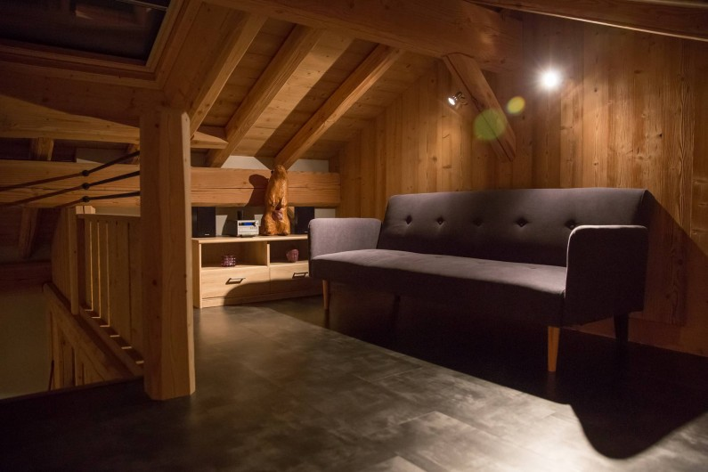 Location de vacances - Appartement à Champagny-en-Vanoise - Coin cosy mezzanine