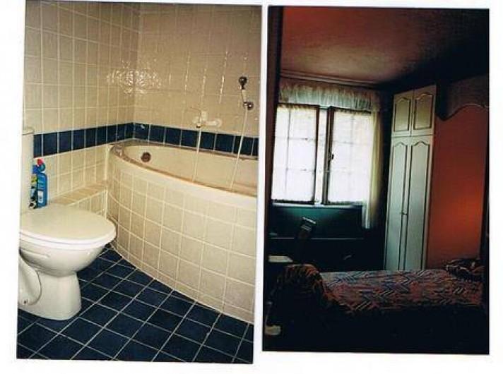 Location de vacances - Mas à Grasse - La salle de bain et la chambre