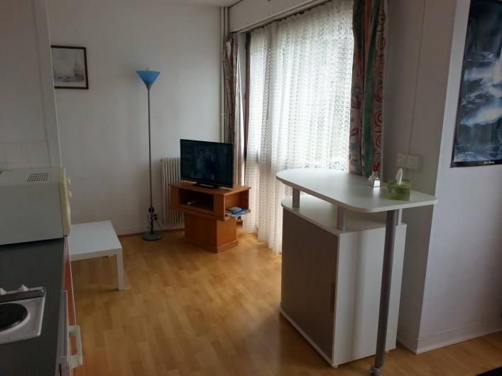 Location de vacances - Studio à Fécamp - Salon vu de la cuisine