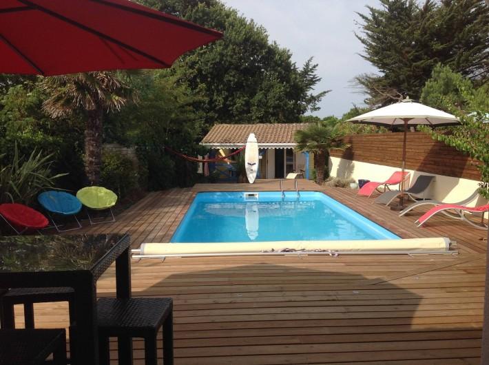 Location de vacances - Villa à Lacanau Océan - Vue depuis le séjour