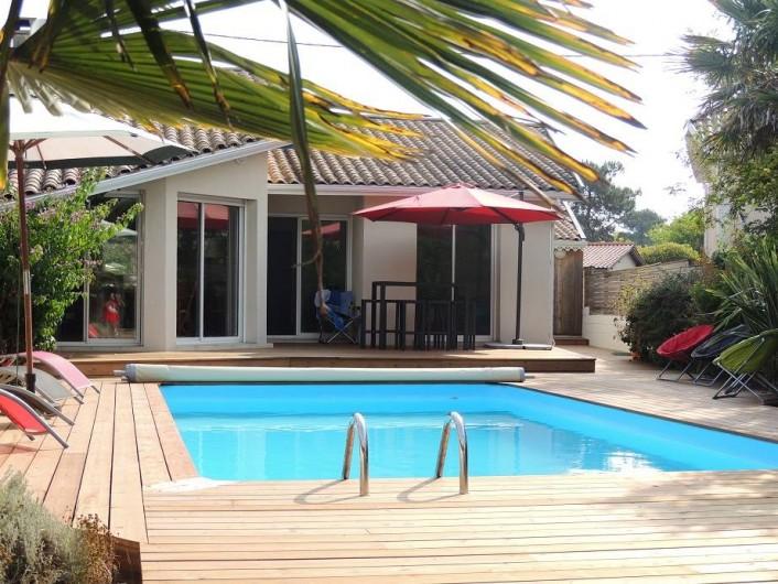 Location de vacances - Villa à Lacanau Océan - Vue depuis la cabane antillaise (chambre double indépendante)