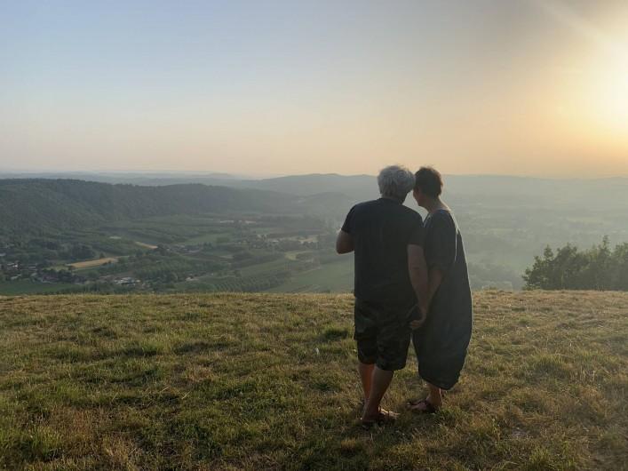 Location de vacances - Maison - Villa à Payrac - Couché du soleil au dessu de la vallée de al Dordogne