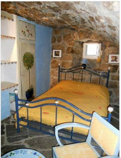 Location de vacances - Gîte à Mas-d'Orcières - Première chambre voûtée