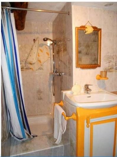 Location de vacances - Gîte à Mas-d'Orcières - Salle d'eau (douche et lavabo)