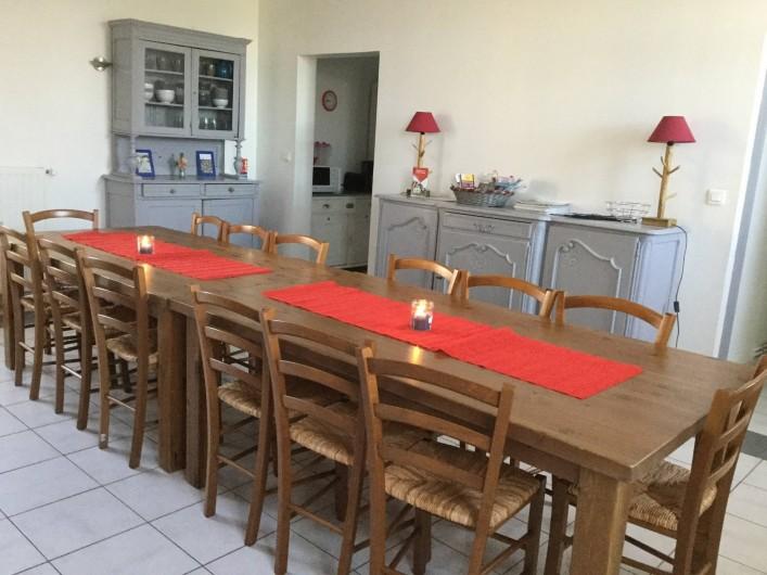 Location de vacances - Gîte à Ponthoile - la salle à manger gîte Les Prés Salés