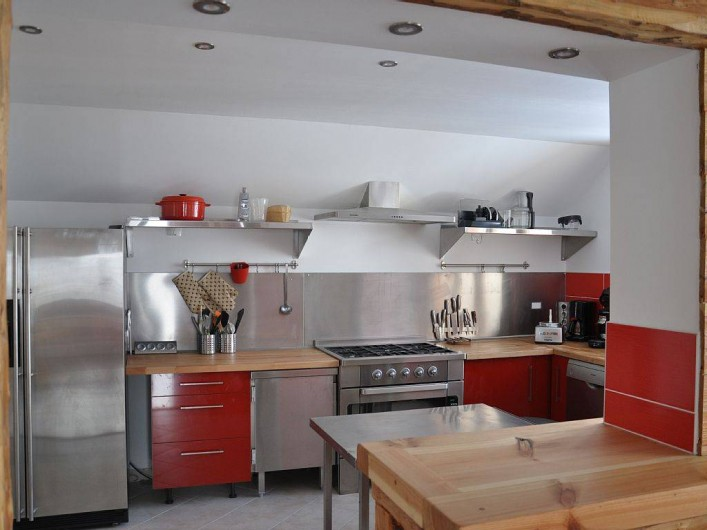 Location de vacances - Chalet à Puy-Saint-Vincent - la cuisine type professionnelle
