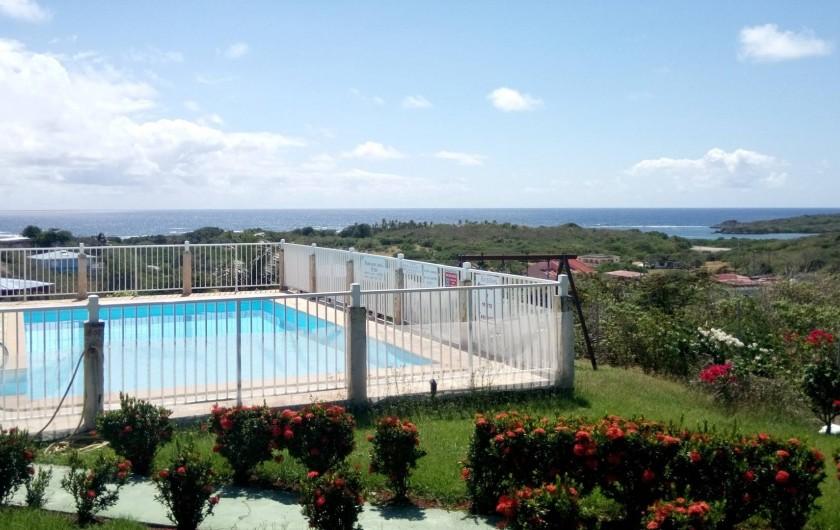 Location de vacances - Appartement à Sainte-Anne - Vue de la terrasse