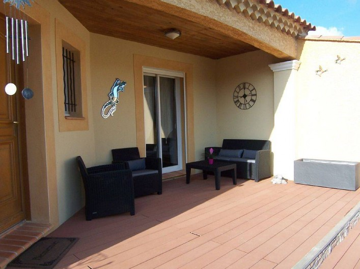 Location de vacances - Villa à Bouillargues - Petite terrasse a l'ombre