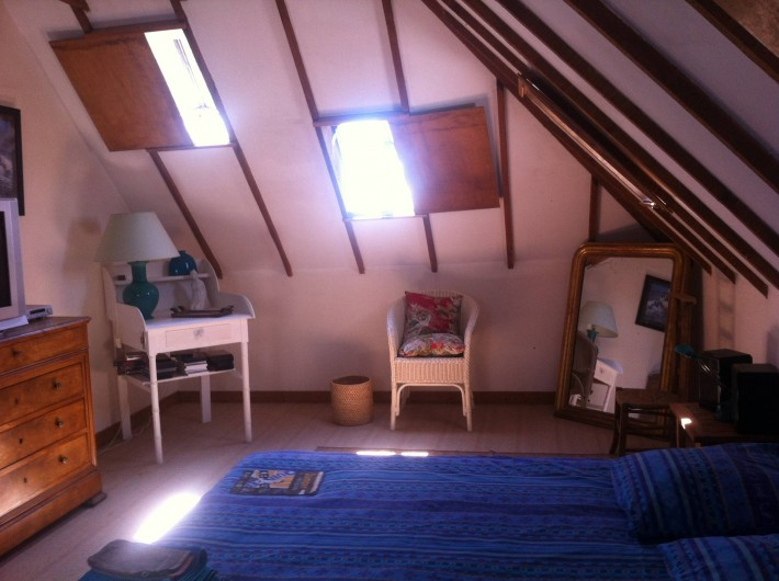 Location de vacances - Mas à Sainte-Marine - Chambre parentale de l'étage lit 160