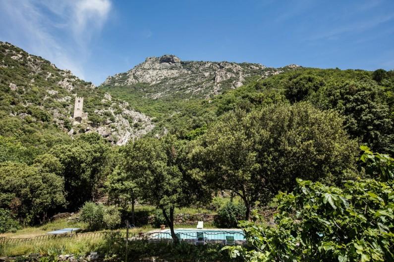 Location de vacances - Gîte à Colombières-sur-Orb - vue depuis les gîtes du château de Colombières