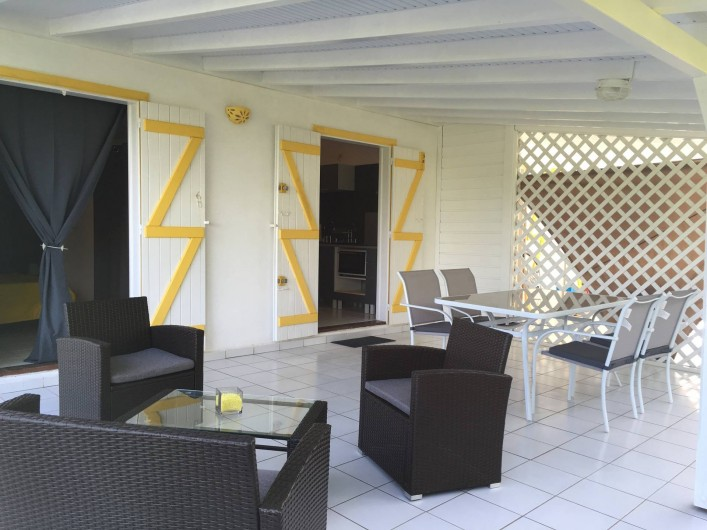 Location de vacances - Gîte à Sainte-Anne - terrasse