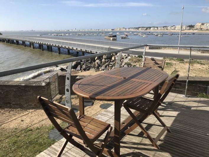 Location de vacances - Villa à Pornichet - Terrasse cuisine vue baie de La Baule