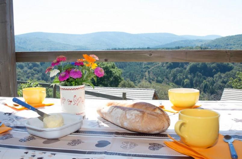 Location de vacances - Gîte à Le Pont-de-Montvert - Terrasse Chalet Moyen