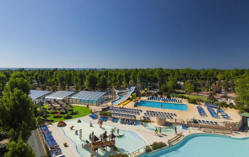 Location de vacances - Bungalow - Mobilhome à Vendres - Le Parc Aquatique du camping La Yole