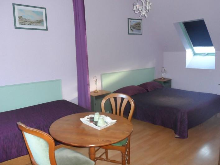 Location de vacances - Chambre d'hôtes à Plouguiel - Cormorans 1 lit double   et 1 lit simple, salle d'eau et wc