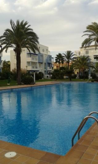 Location de vacances - Appartement à Dénia - Appartement au centre avec la terrasse  équipée d'une banne