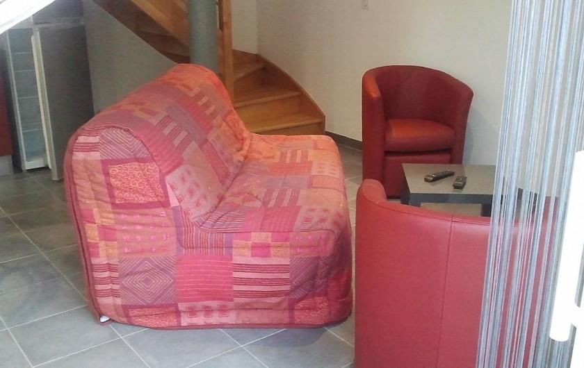 Location de vacances - Gîte à Clohars-Carnoët - salon rubis