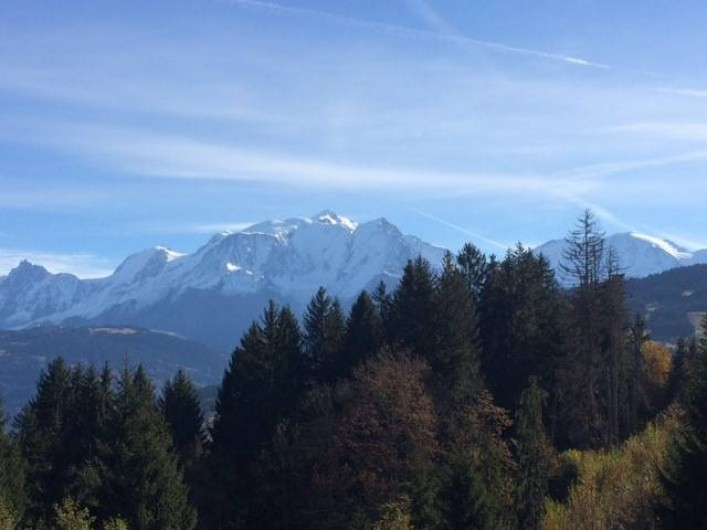 Location de vacances - Appartement à Combloux - Vue Mont Blanc Balcon