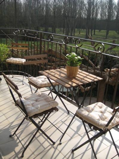 Location de vacances - Appartement à Courthézon - petit balcon