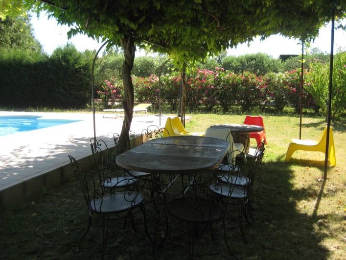 Location de vacances - Appartement à Courthézon - piscine