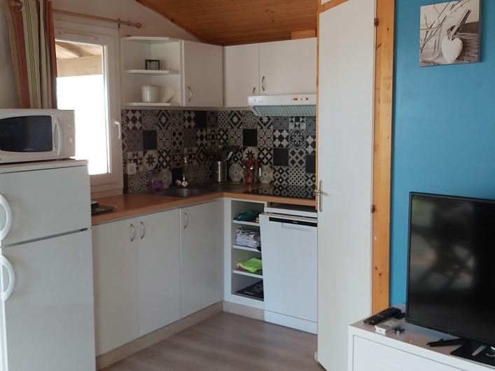 Location de vacances - Chalet à Agde - cuisine ouverte sur séjour