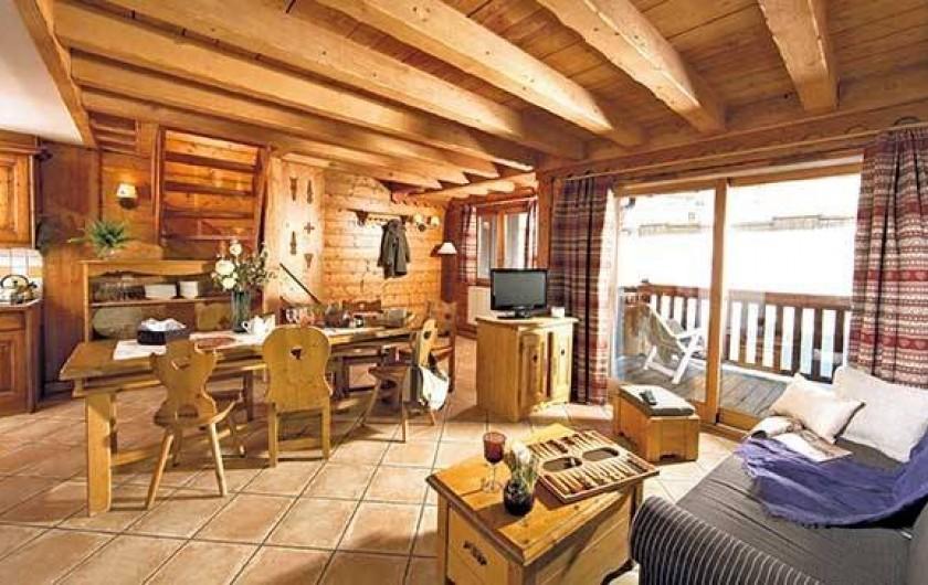 Location de vacances - Appartement à Val Claret - Salon