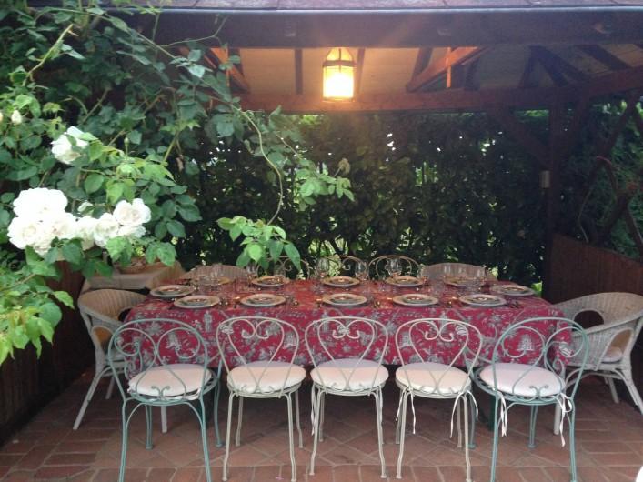 Location de vacances - Maison - Villa à Saint-Étienne-des-Oullières - Gazebo dining