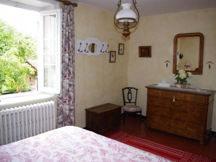 Location de vacances - Maison - Villa à Saint-Étienne-des-Oullières - Chambre rouge - air-conditionné reversible
