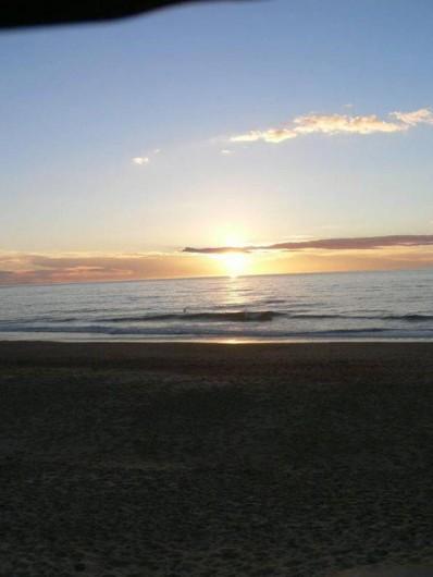 Location de vacances - Chalet à Ondres - Coucher de soleil sur la plage de Ondres