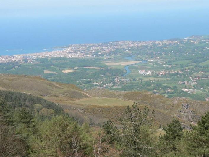 Location de vacances - Chalet à Ondres - Vue depuis le petit train touristique de la Rhune