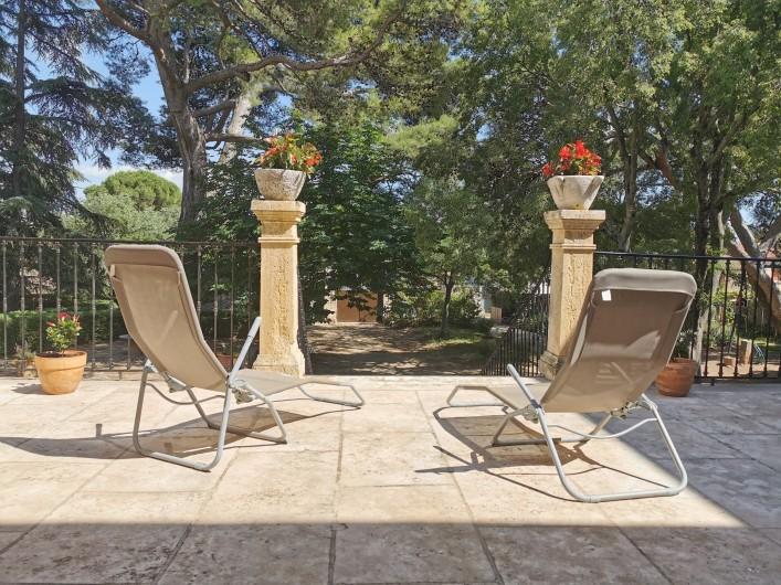 Location de vacances - Chambre d'hôtes à Jonquières - Terrasse  suite