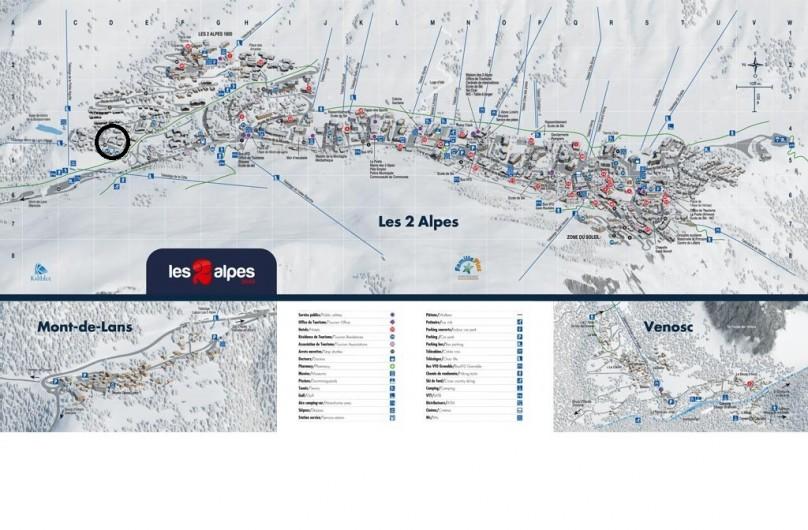 Location de vacances - Appartement à Les Deux Alpes - quartier calme, proche piste rejoignant le télésiège de la petite aiguille