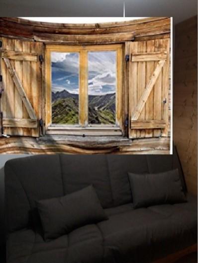 Location de vacances - Appartement à Les Deux Alpes - grande cabine  avec canapé convertible fermé