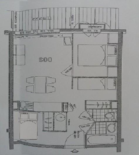 Location de vacances - Appartement à Les Deux Alpes - plan de l'appartement