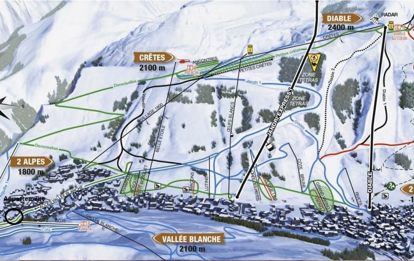 """Location de vacances - Appartement à Les Deux Alpes - accès domaine les 2 alpes par télésiège """"petite aiguille"""""""