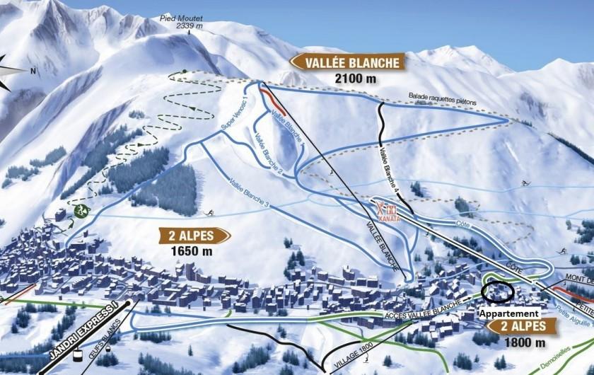 """Location de vacances - Appartement à Les Deux Alpes - accès domaine vallée blanche par télésiège """"cote"""""""