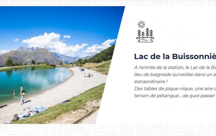 Location de vacances - Appartement à Les Deux Alpes - lac à 100m de la résidence