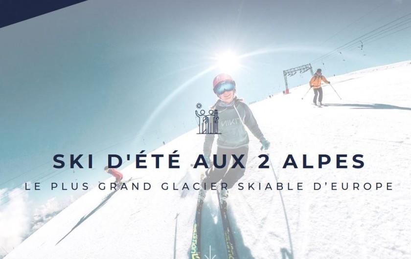 Location de vacances - Appartement à Les Deux Alpes - ski d'été  sur le glacier des deux alpes