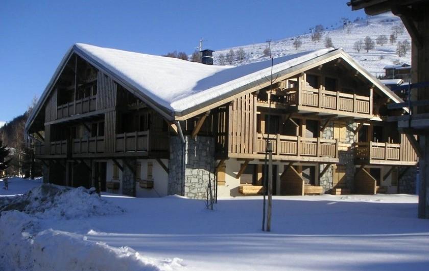 Location de vacances - Appartement à Les Deux Alpes - chalet , en hiver
