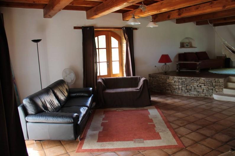 Location de vacances - Maison - Villa à Saint-André-d'Olérargues - Salon bas