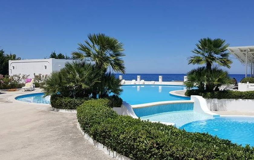 Location de vacances - Bungalow - Mobilhome à Monforte San Giorgio - Notre piscine